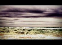 Waves crashing ashore on storm beach. Ocean, sea royalty free stock photo