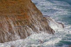 Waves Crashing Ashore at Wilder State Beach Royalty Free Stock Image