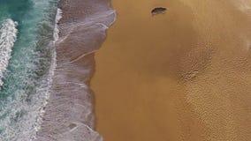 Waves Crashing on Beach stock video footage
