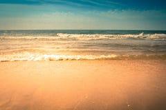Waves Crashing on the Beach Royalty Free Stock Photo