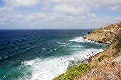 Waves crashing on cliff 32 Royalty Free Stock Images