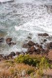Waves crashing on cliff 34 Royalty Free Stock Photo