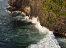 Waves crashing cliffs Stock Photos