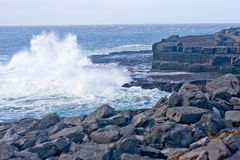 Waves crashing at Doolin beach, county Clare, Ireland Royalty Free Stock Photography