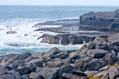 Waves crashing at Doolin beach, county Clare, Ireland Stock Image