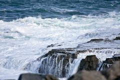 Waves crashing at Doolin beach, county Clare, Ireland Stock Photo