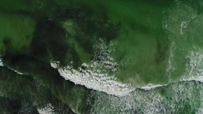 Waves crashing stock video