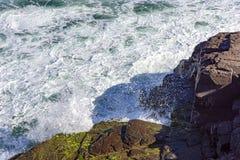 Waves. Crashing heavily against the rocks Stock Photo