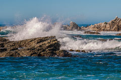 Waves Crashing on the Kaikoura Coast Stock Photos