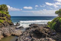 Waves Crashing the Maui Coast Stock Photography
