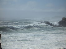Waves Crashing in the Mist Royalty Free Stock Photo