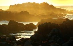 Waves crashing near Monterey, California Stock Photo