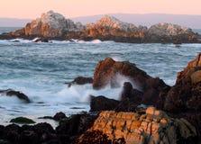 Waves crashing near Monterey, California Stock Images