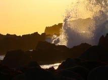 Waves crashing near Monterey, California Royalty Free Stock Photo