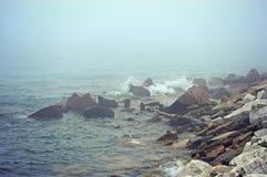 Waves Crashing Rocks Lake Michigan Royalty Free Stock Photos