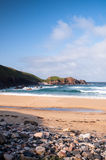 Waves crashing at a Scottish Beach stock photo
