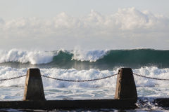 Waves Crashing Tidal Pool Stock Images