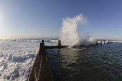 Waves Crashing Tidal Pool Royalty Free Stock Photography