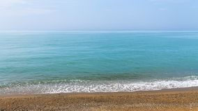 Waves on the Crimean beach. / bright summer landscape stock image