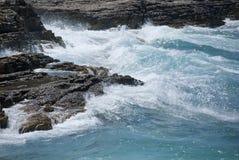Waves in Croatian bay Stock Photo