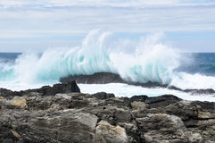Waves crushing. Storms River Mouth, Tsitsikamma national park, South Africa stock photos