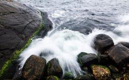 Waves crushing Stock Photo