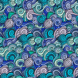 Waves and curls pattern. Abstract vector backgrounds Royalty Free Stock Image