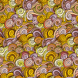 Waves and curls pattern. Abstract vector backgrounds Stock Photos