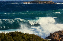 Waves in Cyprus Stock Photography