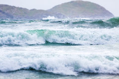 Waves at Derrynane Beach Stock Photography