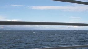 Waves in Drake Passage through boat rail stock video footage