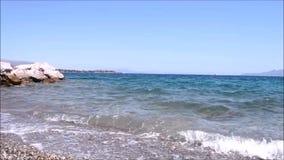 waves at Dreams island Eretria Euboea Greece stock video