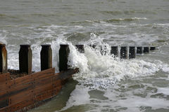 Waves at Eastbourne Stock Image
