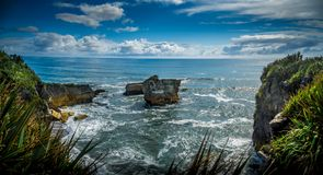 Waves, Eddies and Spume. In the Tasman Sea, New Zealand royalty free stock image