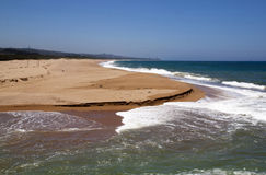 Waves Entering the Umgeni River Mouth, Durban Royalty Free Stock Photos