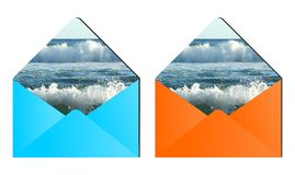 Waves envelopes Royalty Free Stock Image