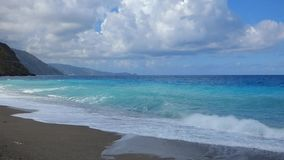 waves för strandcrimea hav stock video