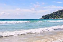 waves för textur för hav för illustrationsdesign naturliga blå sky rekreation Arkivbilder