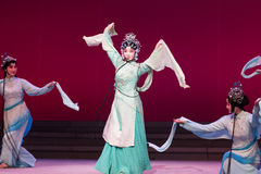 """Waves of the fairies-The sixth act water overflows golden hill-Kunqu Opera""""Madame White Snake"""" Stock Photo"""