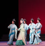 """Waves of the fairies-The sixth act water overflows golden hill-Kunqu Opera""""Madame White Snake"""" Royalty Free Stock Images"""