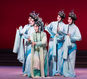 """Waves of the fairies-The sixth act water overflows golden hill-Kunqu Opera""""Madame White Snake"""" Royalty Free Stock Photo"""