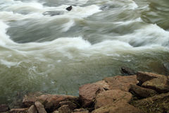 Waves flowing in the riverr Stock Photos
