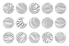 Waves flowing spheres art abstract design template vector illustration vector illustration