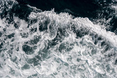 Waves and foam. Background of waves and foam from moving boat Royalty Free Stock Images