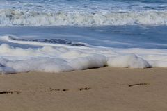 Waves foam ocean Stock Photography