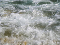 Waves and foam in the sea. As pattern royalty free stock image