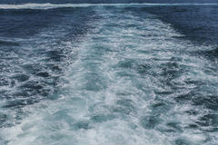 Waves and foam from a ship in the Sea of Marmara Royalty Free Stock Photo