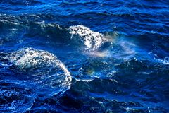 Waves and foam on the surface of the North Sea Royalty Free Stock Photography