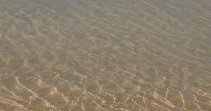 Waves formation at low tide stock footage