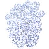 waves för vektor för klotteranteckningsbok psychedelic virvel Royaltyfria Bilder